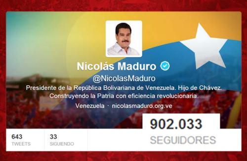 Maduro Twiter seguidores